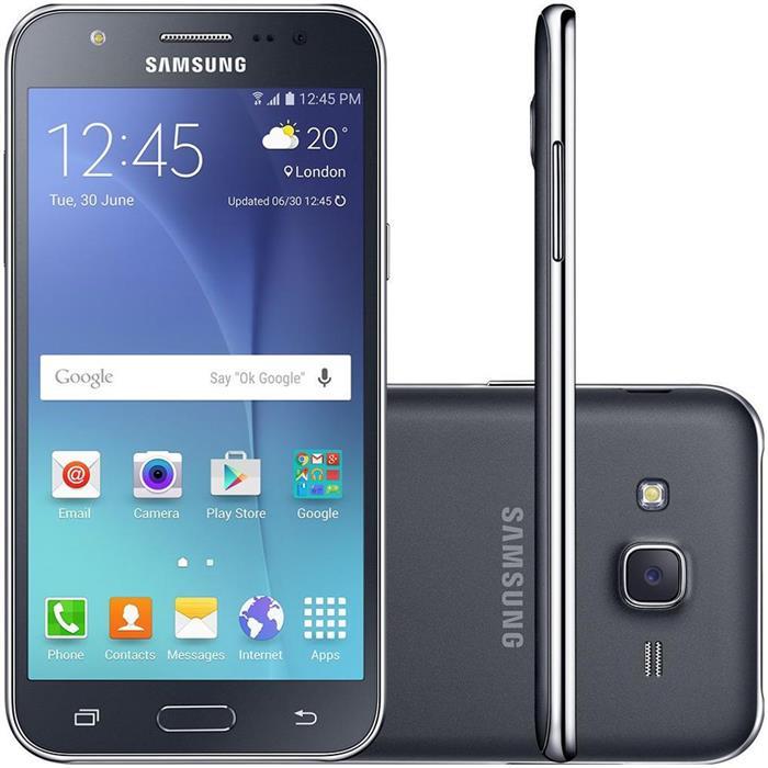 Smartphone Samsung Galaxy J5 Duos Dual Chip Processador Quadcore 1.2GHz Memória 16GB Câmera 13MP