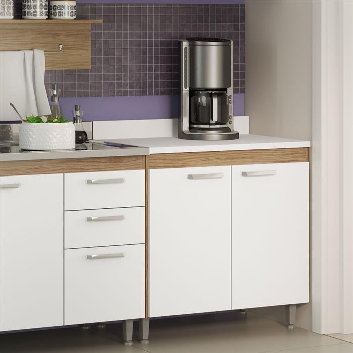 Balcão Multimóveis Cooktop 5022 2 Portas com Tampo