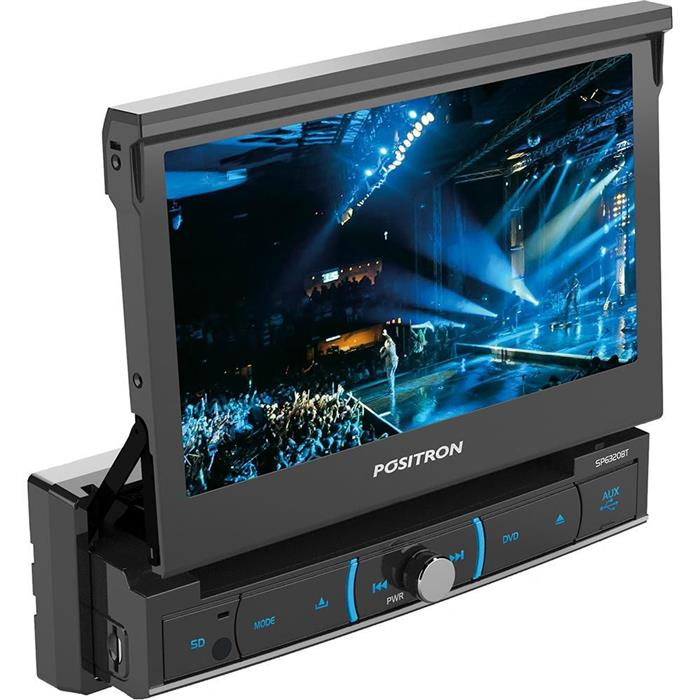Auto Rádio Pósitron SP6320BT Bluetooth DVD MP3 USB AM FM