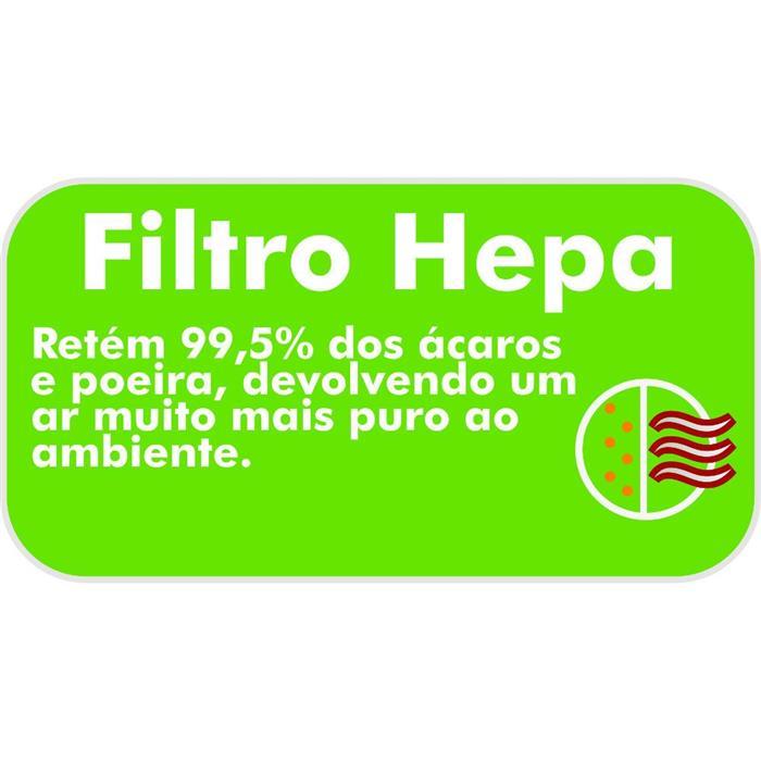 Aspirador de Pó Philco Hepa Max 1680 Horizontalcom Filtro Hepa 1400W Branco/Laranja