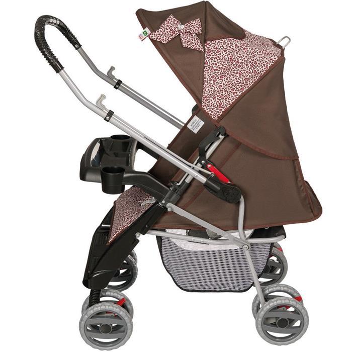 Carrinho de Bebê Tutti Baby Thor 3900.28 Reclinável Marrom/Onça