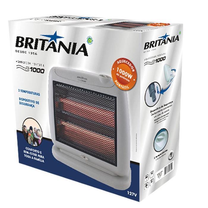 Aquecedor Elétrico Portátil Britânia AB1000 2 Resistências 1000 Watts