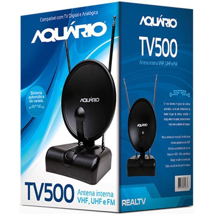 Antena Interna Aquário Digital VHF UHF HDTV