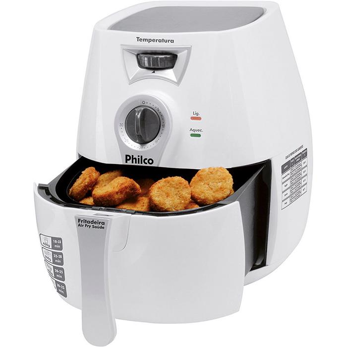Fritadeira Elétrica Philco Air Fry Saúde 1300W 2,8 Litros sem Óleo Branco