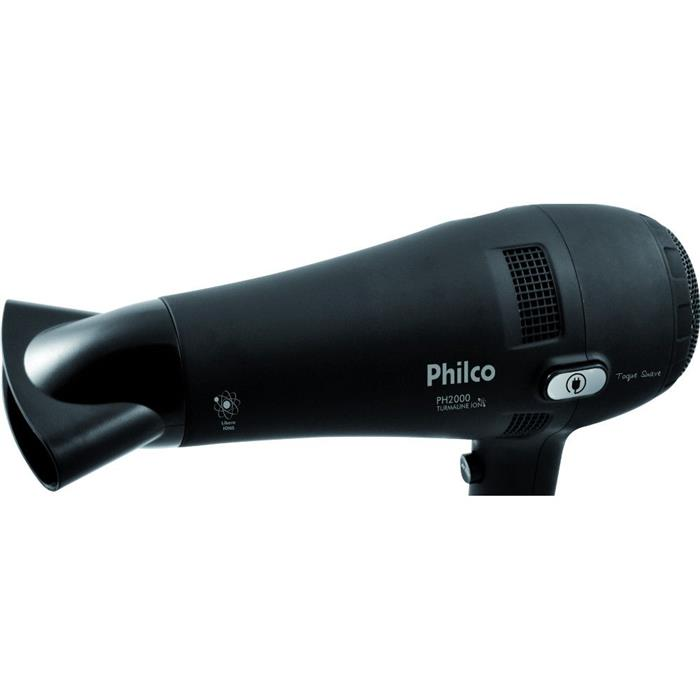Secador de Cabelo Philco Tourmaline Ion PH2000 2 Velocidades 3 Temperaturas