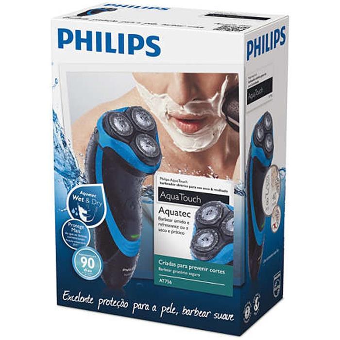 Barbeador Elétrico Philips Aquatouch AT756/16