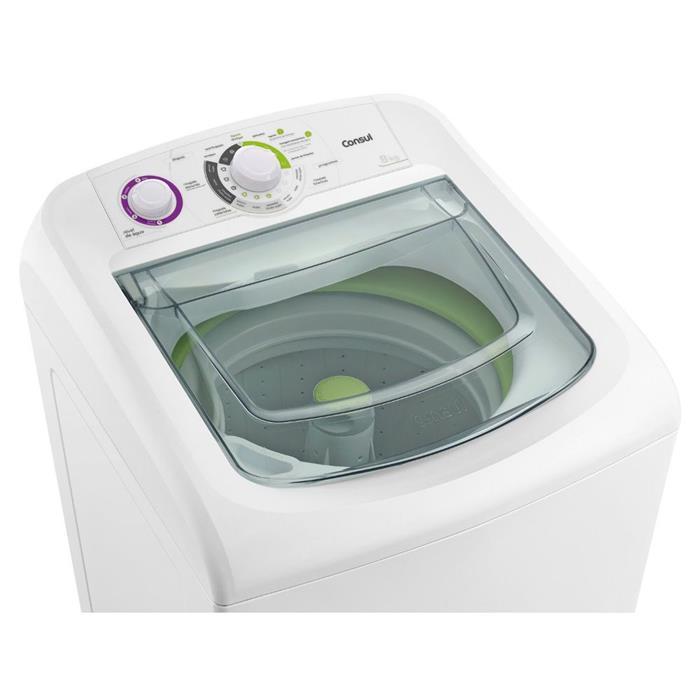 Lavadora de Roupas Consul CWC08 8kg Branco