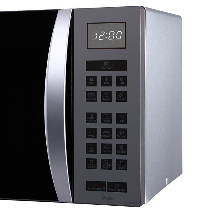 Microondas Panasonic Style NN-ST674SRU 32 Litros com Desodorizador