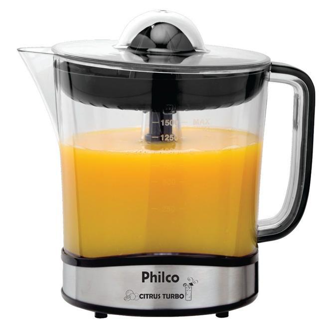 Espremedor de Frutas Philco Citrus Turbo 1,5 Litros Aço Escovado