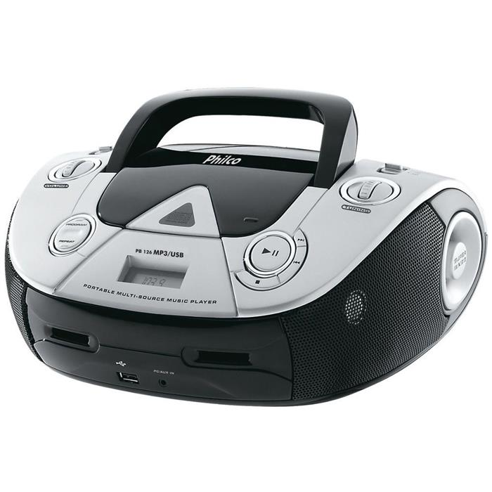 Rádio Philco PB126 AM FM USB CD