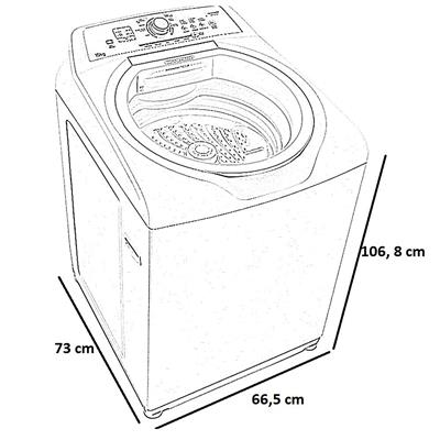 Lavadora de Roupas Brastemp BWH15 15Kg Branco
