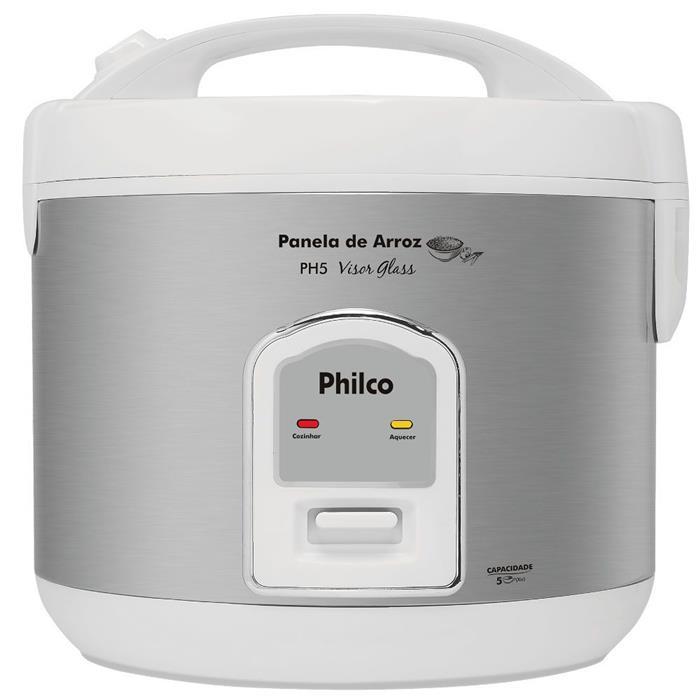 Panela Elétrica de Arroz Philco PH5 Visor Glass 400W 5 Xícaras