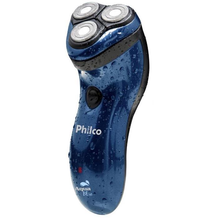 Barbeador Elétrico Philco Aqua Blue Corte Duplo À Prova D'água