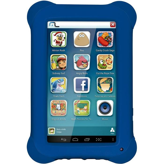 "Tablet Multilaser NB194 Tela 7"" 8GB Quadcore Android 4.4"