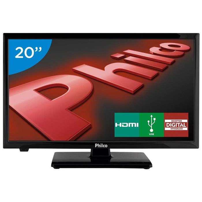 "TV LED Philco PH20U21D 20"" 2 HDMI 1 USB"