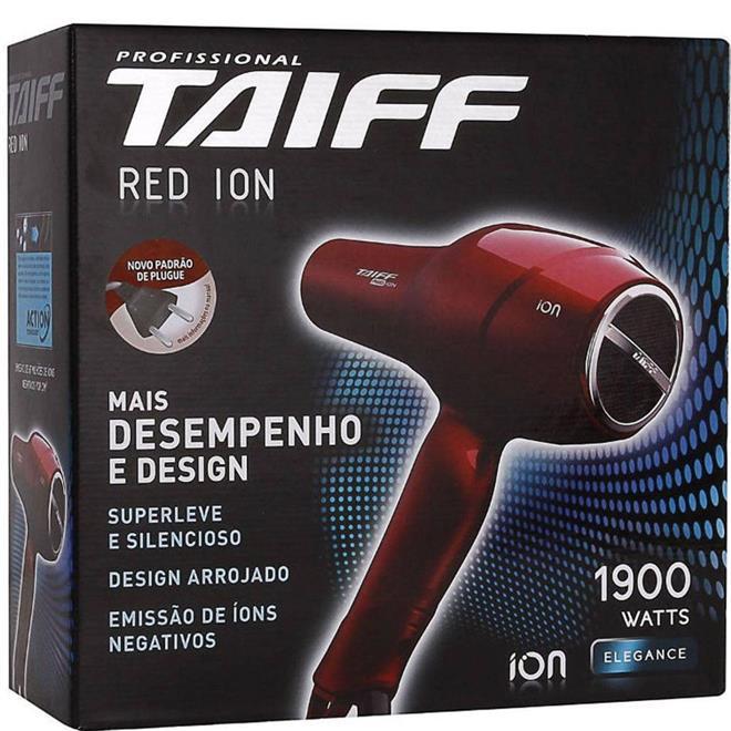 Secador de Cabelo Taiff Red Íon