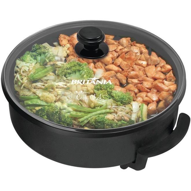 Panela Elétrica Britânia Cook Chef 1500W 6 Xícaras Prata