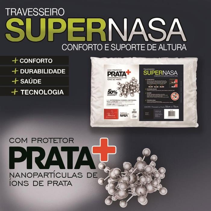 Travesseiro Fibrasca Supernasa Íons de Prata 50x70cm