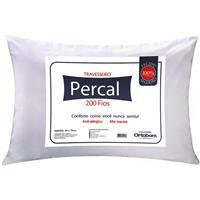 Travesseiro Ortobom Percal 200 Fios 70x50cm