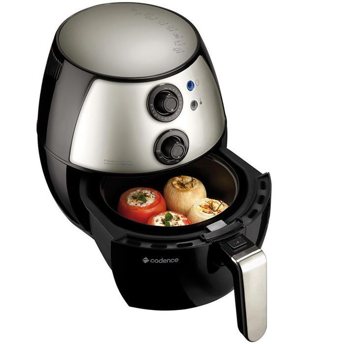 Fritadeira Elétrica Cadence Light Fryer FRT500 1250W 2,3 Litros sem Óleo Preto e Aço Inox