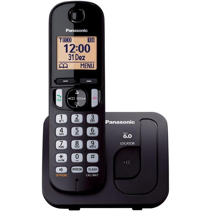 Telefone Fixo Panasonic TGC210 com Identificador de Chamadas sem Fio