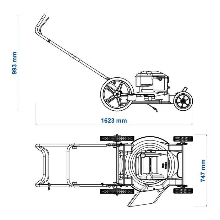 Cortador de Grama a Gasolina Tramontina CC50M 6HP
