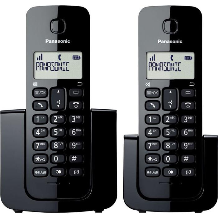 Telefone Fixo Panasonic TGB112 com Ramal Identificador de Chamadas sem Fio