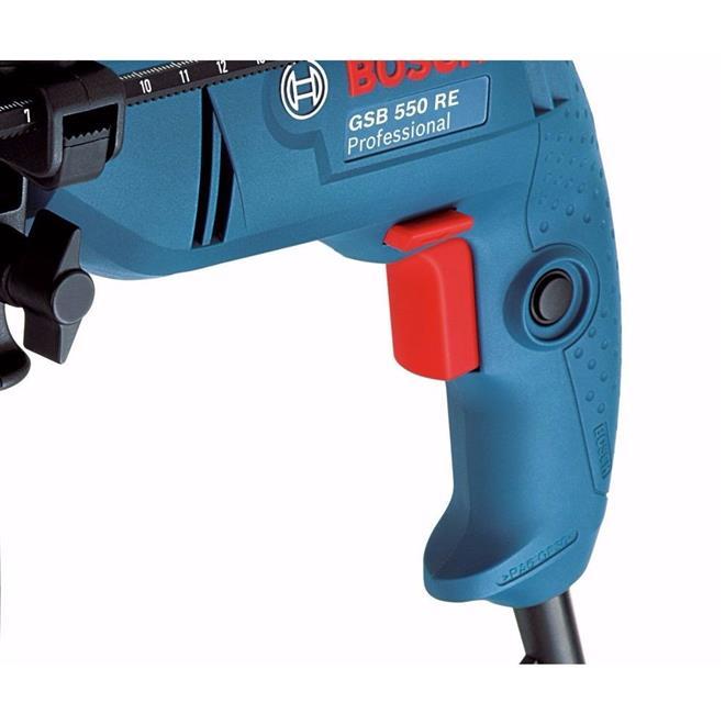 Furadeira de Impacto Bosch GSB550 RE 550W Mandril 13mm