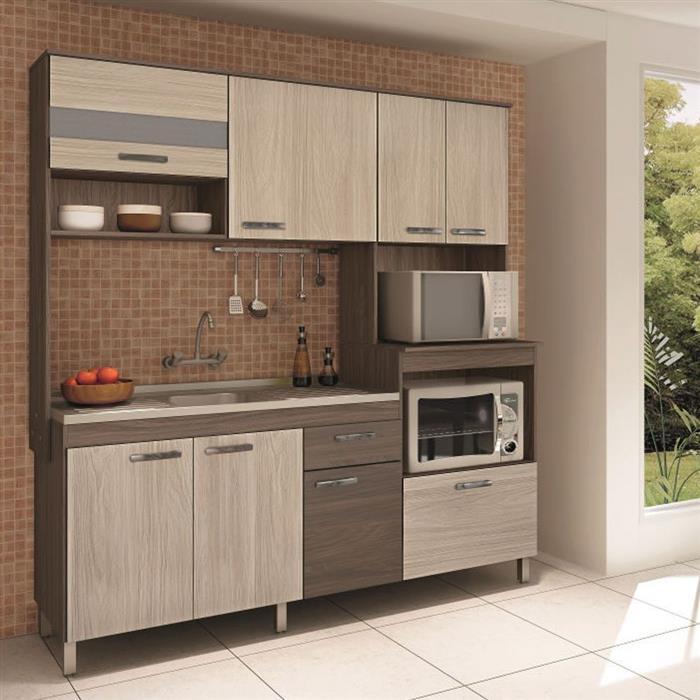 Cozinha Compacta Móveis Sul Valentina 4550