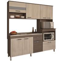 Cozinha Compacta Móveis Sul Valentina 4550 MDP 7 Portas 2 Gavetas