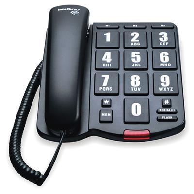Telefone Fixo Intelbras Tok Fácil com Fio