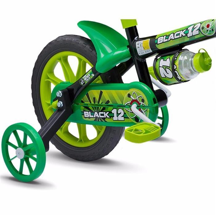 Bicicleta Infantil Nathor Black 12 Aro 12