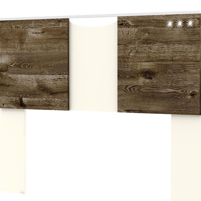 Cabeceira Móveis Primavera VS300 Box 139 e 160cm Champa/Vecchio