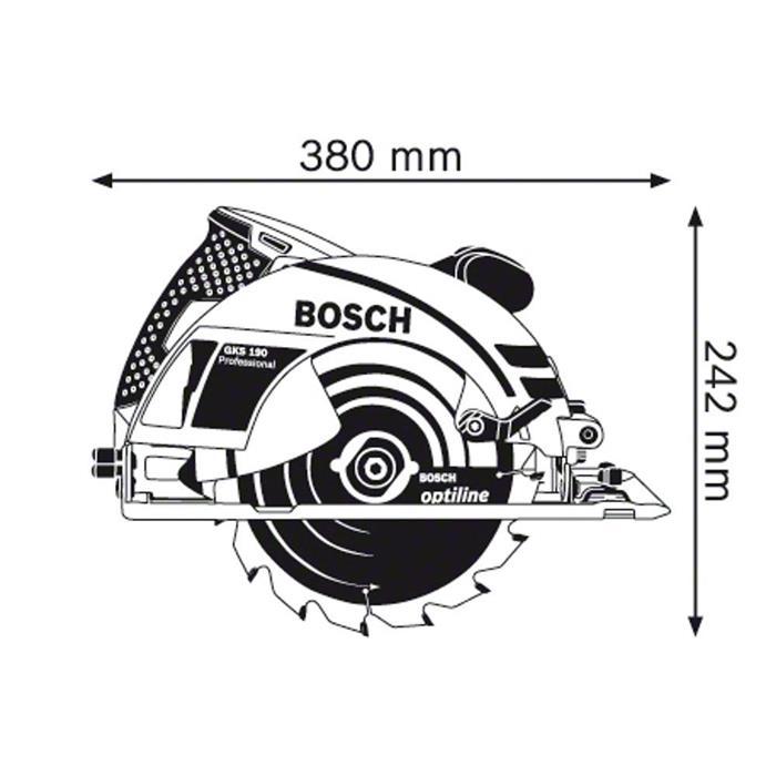 Serra Circular Bosch GKS 190 1400W