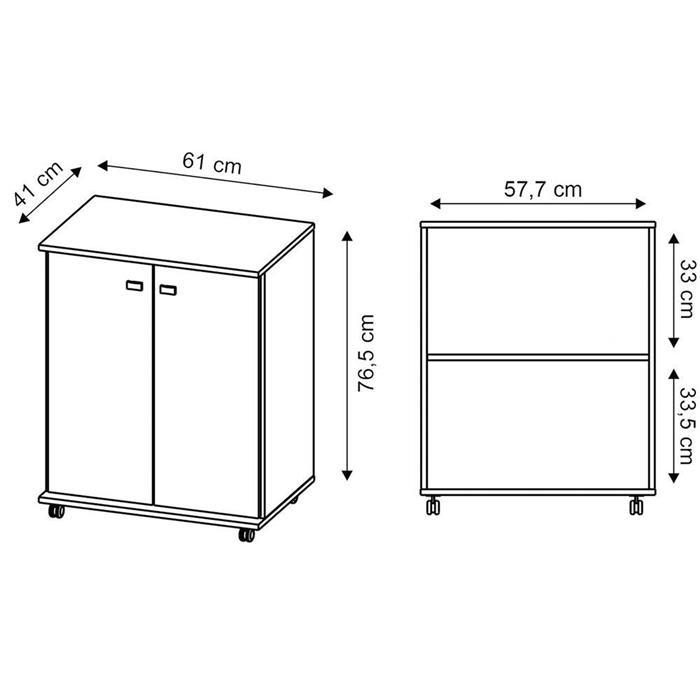 Balcão Tecnomobili BL3300 2 Portas
