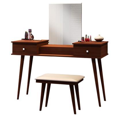 Penteadeira Bechara JB7600 com Banqueta e Espelho