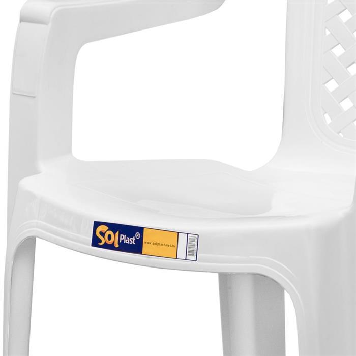 Cadeira Plástica Solplast Jacarecica 120kg