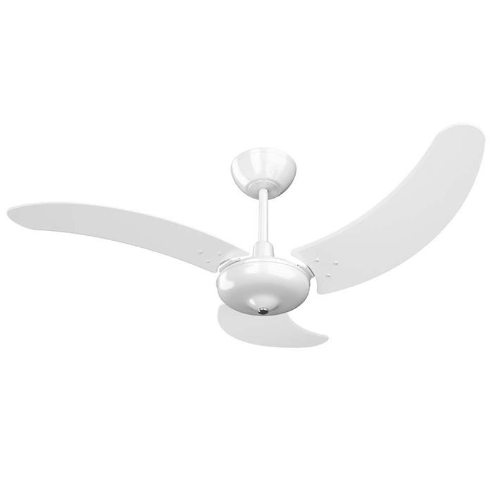 Ventilador de Teto Tron Búzios Max 3 Velocidades com Lustre Branco