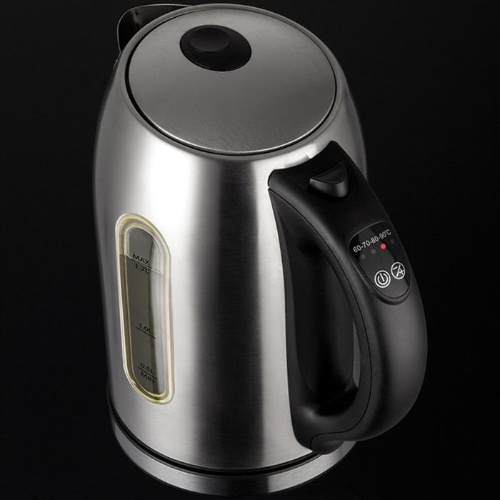 Chaleira Elétrica Cadence Inox Supreme CEL500 1,7L Sistema Light Colors 4 Temperaturas + Ferver