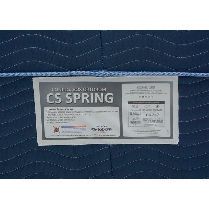 Box Conjugado Casal Ortobom CS Spring 138x188x43cm
