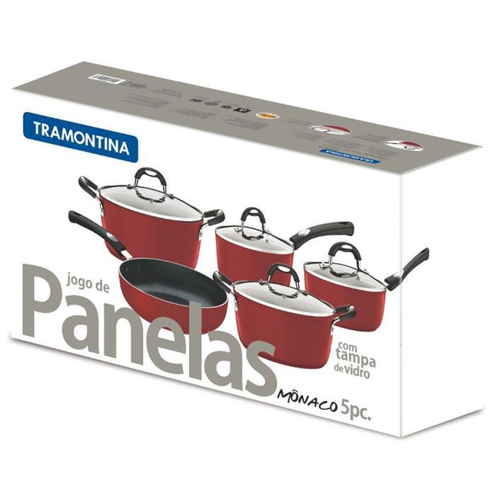 Conjunto de Panelas Tramontina Mônaco 20899750 5 peças