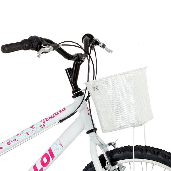 Bicicleta Caloi Ventura 21 Marchas Aro 26 com Cestinho