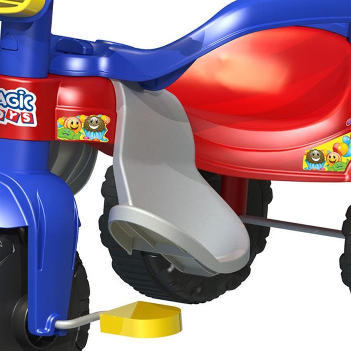 Triciclo Magic Toys Tico-Tico Festa 2560 Haste Removível