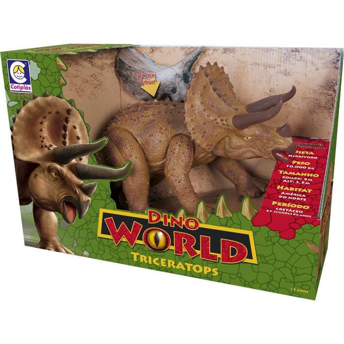 Dino World Triceratops Cotiplás 2089 com Som