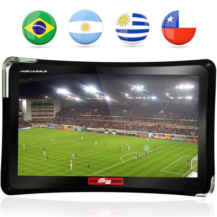 "GPS Guia Quatro Rodas Aquarius MTC4761 7"" TV Digital MP3"