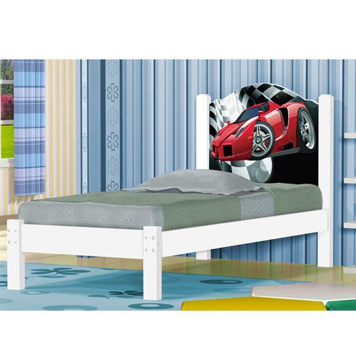 Cama Solteiro Geval Carro G50 MDF