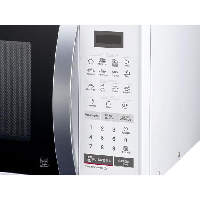 Microondas LG MS2355R Easy Clean 23 Litros Eco On I Wave 15 Receitas Pré-programadas