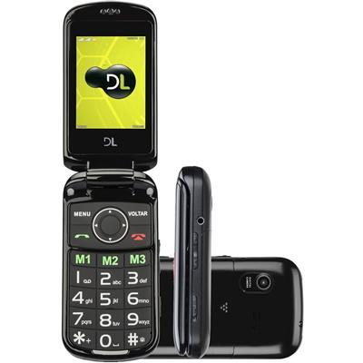 """Celular DL YC-130 Dual Chip Tela 2,4"""" Lanterna Rádio FM Câmera Função SOS"""