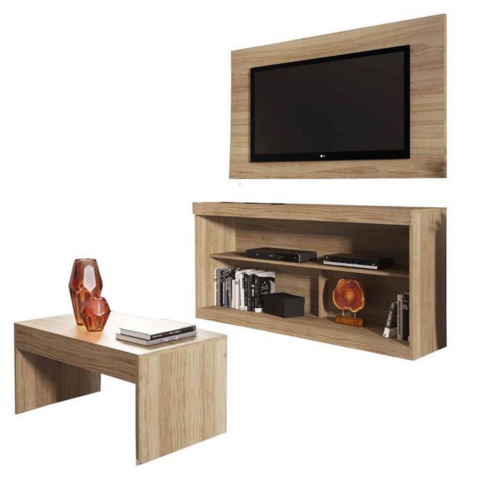 """Rack com Painel para TV até 42"""" e Mesa de Centro Multimóveis Inovare"""