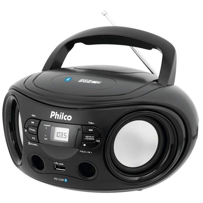 Rádio Philco PB122BT Bluetooth USB MP3 Entrada Auxiliar FM